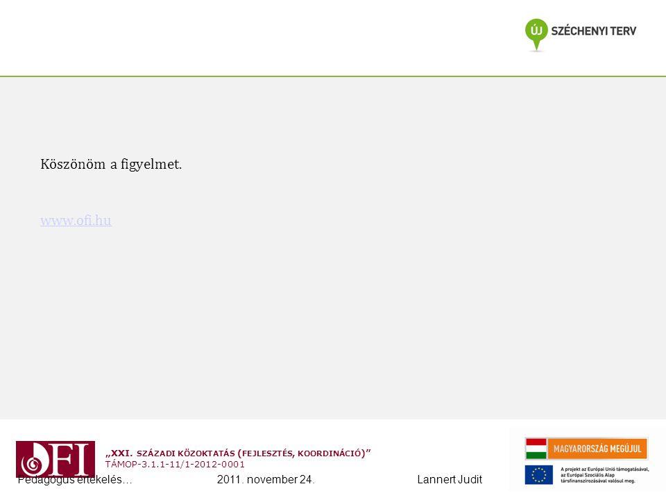 Köszönöm a figyelmet. www.ofi.hu