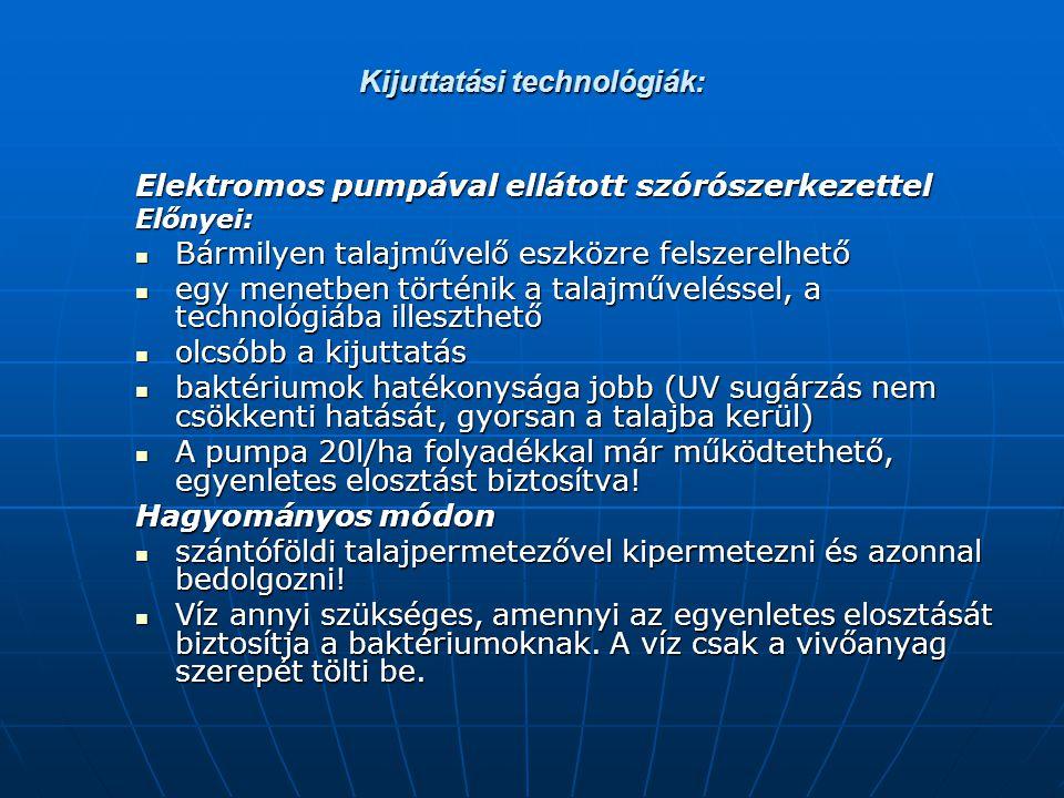 Kijuttatási technológiák: