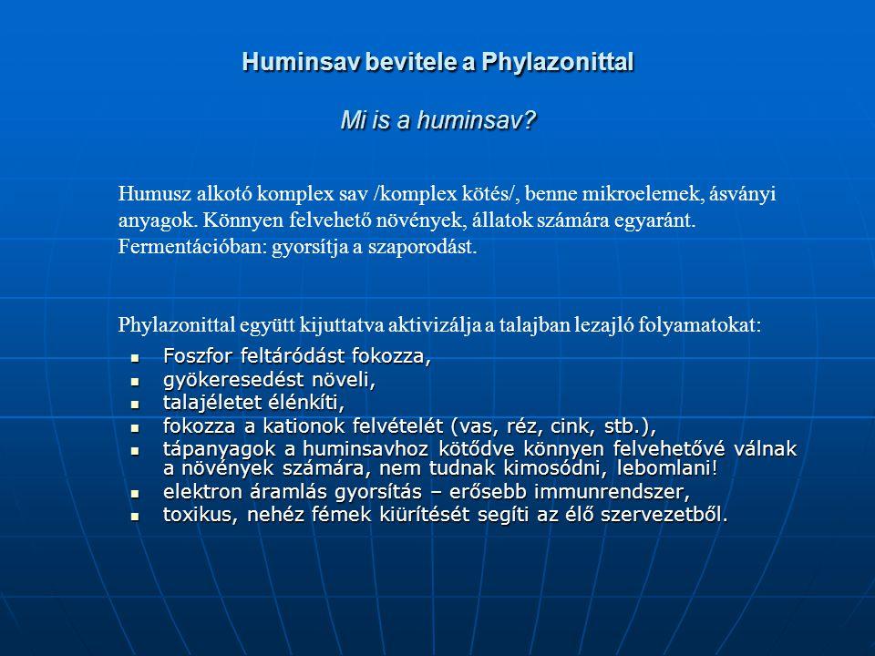 Huminsav bevitele a Phylazonittal Mi is a huminsav