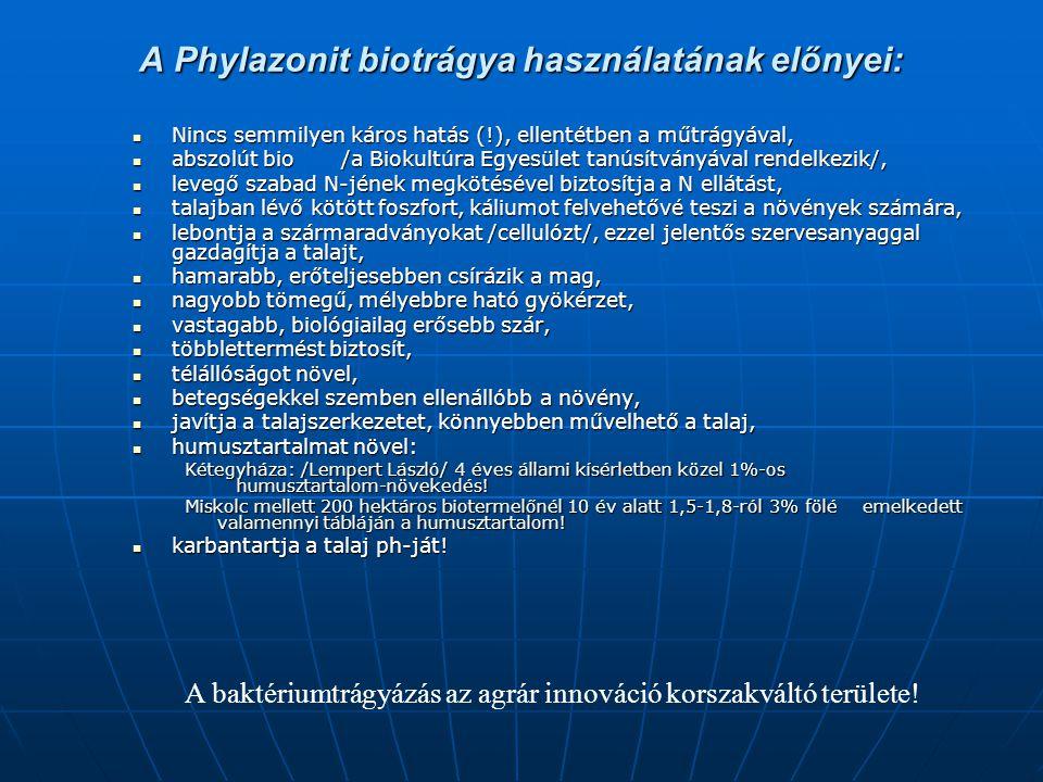 A Phylazonit biotrágya használatának előnyei: