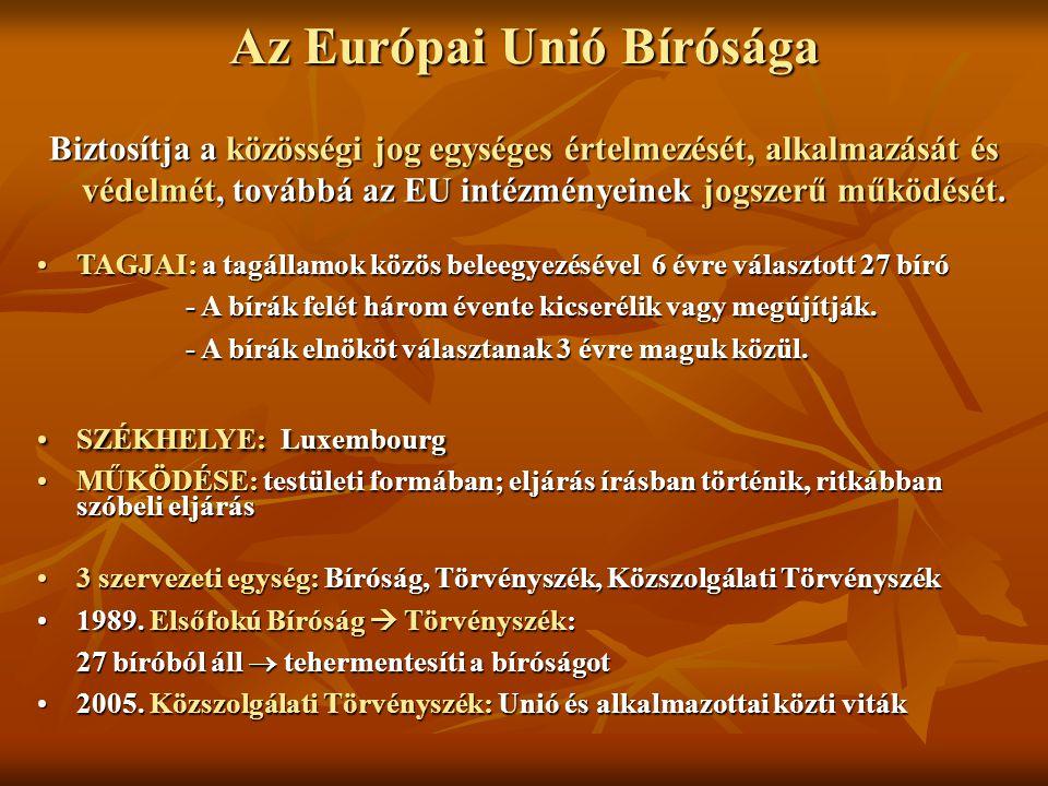 Az Európai Unió Bírósága