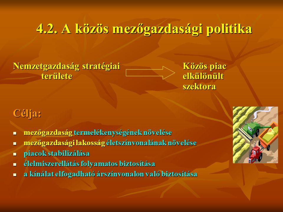4.2. A közös mezőgazdasági politika