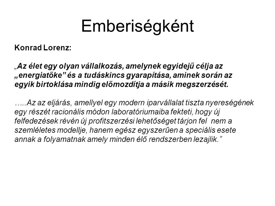 Emberiségként Konrad Lorenz: