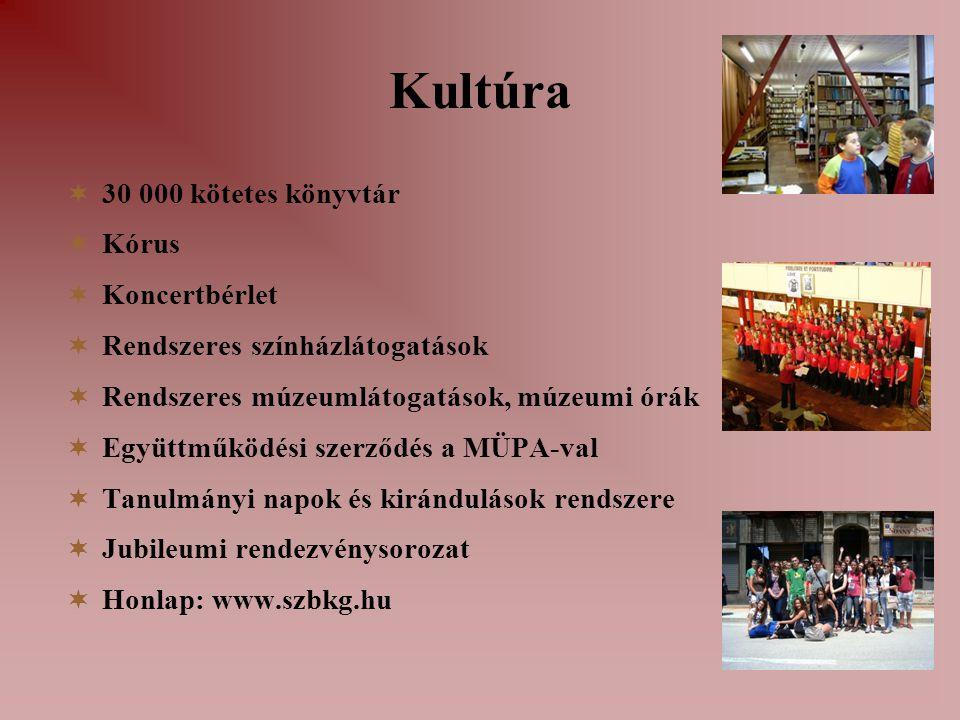 Kultúra 30 000 kötetes könyvtár Kórus Koncertbérlet