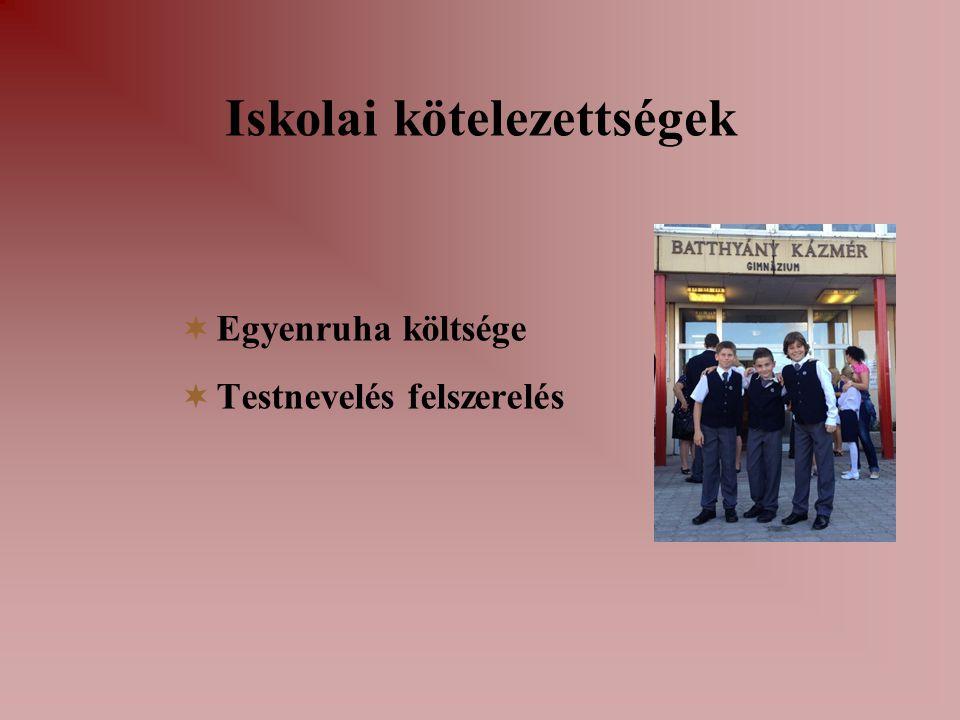 Iskolai kötelezettségek