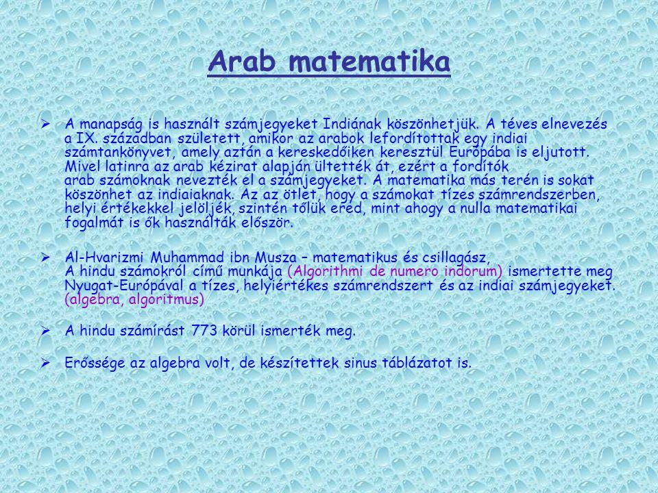 Arab matematika