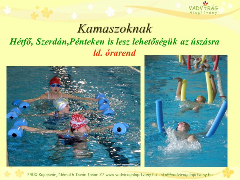 Kamaszoknak Hétfő, Szerdán,Pénteken is lesz lehetőségük az úszásra ld