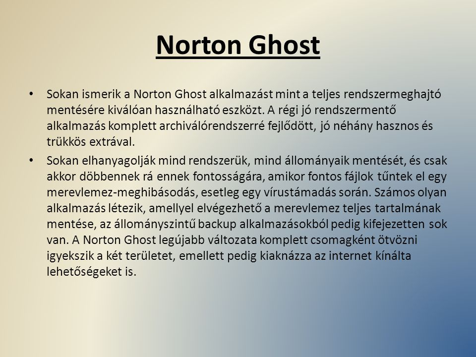 Norton Ghost