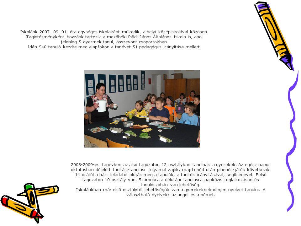 Iskolánk 2007. 09. 01. óta egységes iskolaként működik, a helyi középiskolával közösen.