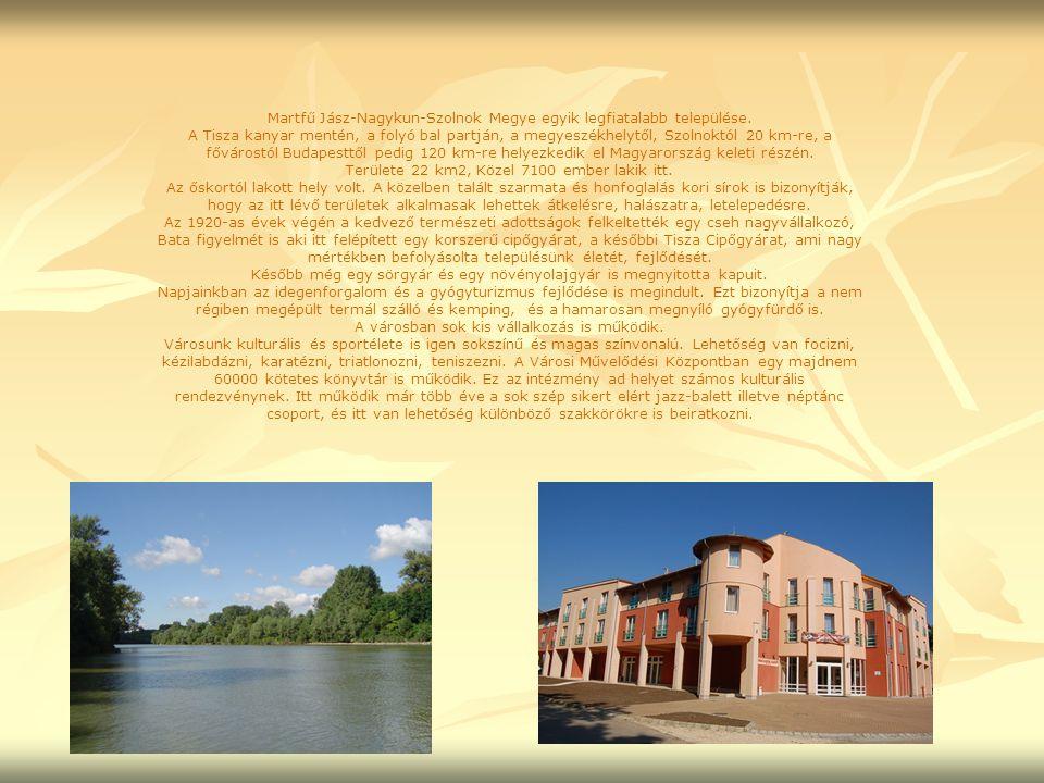 Martfű Jász-Nagykun-Szolnok Megye egyik legfiatalabb települése.