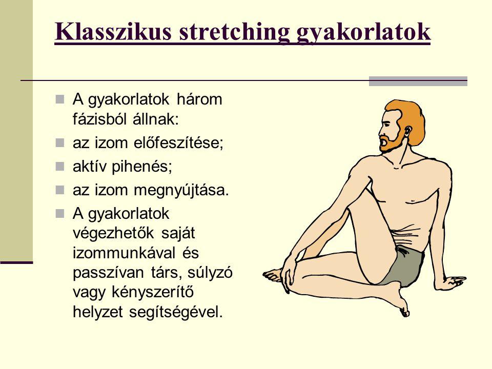 Klasszikus stretching gyakorlatok