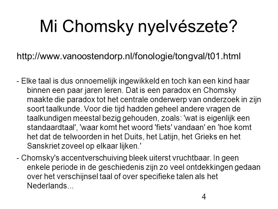 Mi Chomsky nyelvészete