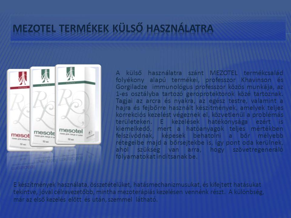 mezotel termékek KÜLSŐ HASZNÁLATRA