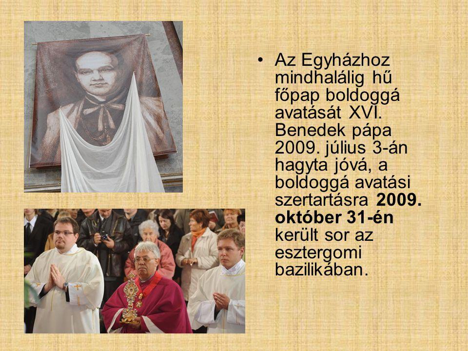 Az Egyházhoz mindhalálig hű főpap boldoggá avatását XVI
