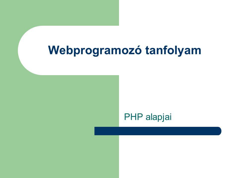 Webprogramozó tanfolyam