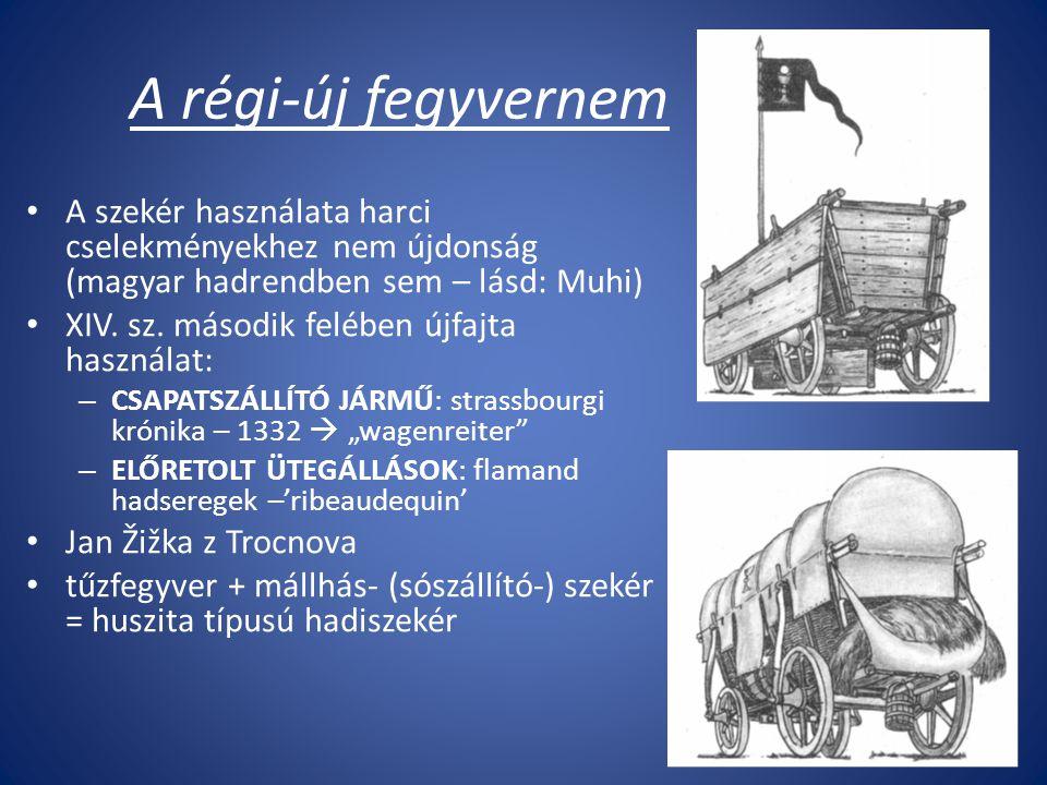 A régi-új fegyvernem A szekér használata harci cselekményekhez nem újdonság (magyar hadrendben sem – lásd: Muhi)
