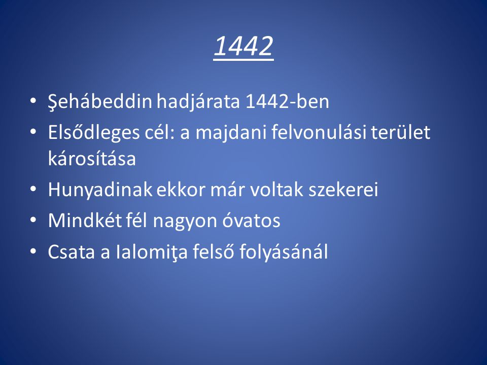 1442 Şehábeddin hadjárata 1442-ben