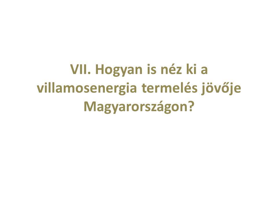 VII. Hogyan is néz ki a villamosenergia termelés jövője Magyarországon