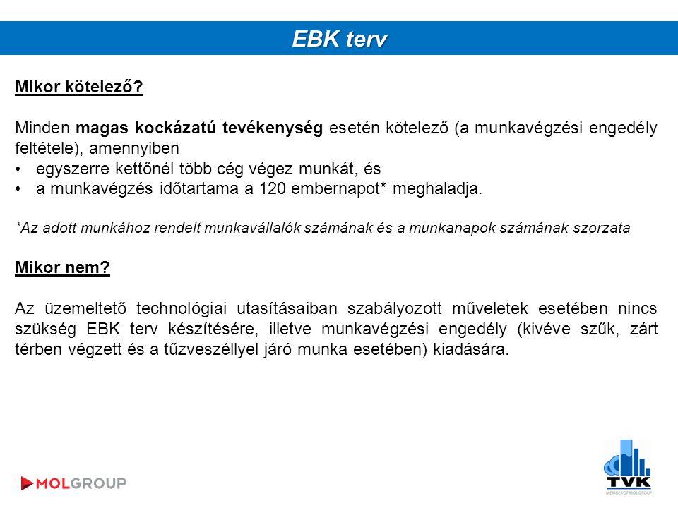 EBK terv Mikor kötelező