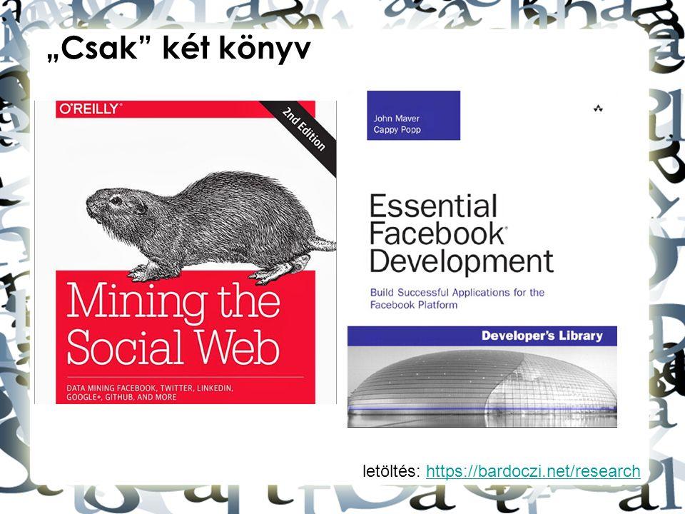 """""""Csak két könyv letöltés: https://bardoczi.net/research"""