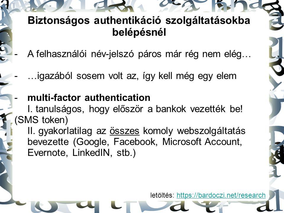 Biztonságos authentikáció szolgáltatásokba