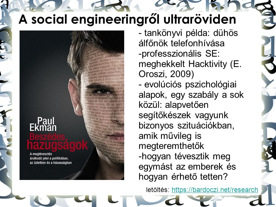 A social engineeringről ultraröviden