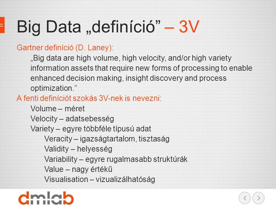 """Big Data """"definíció – 3V"""