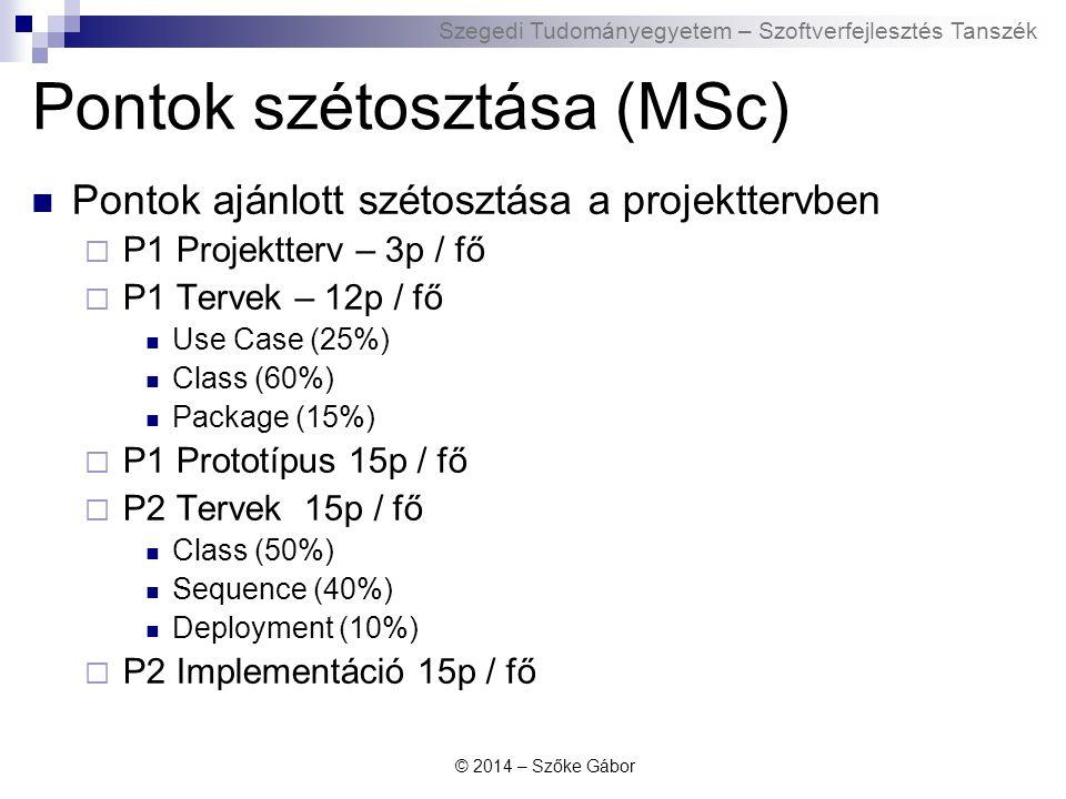 Pontok szétosztása (MSc)