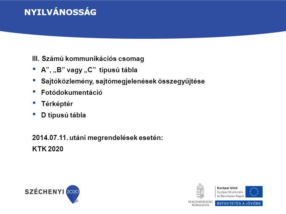 Nyilvánosság III. Számú kommunikációs csomag
