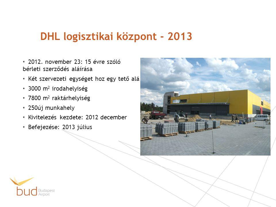 DHL logisztikai központ - 2013