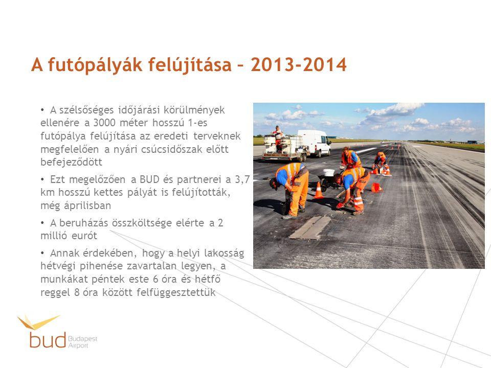 A futópályák felújítása – 2013-2014