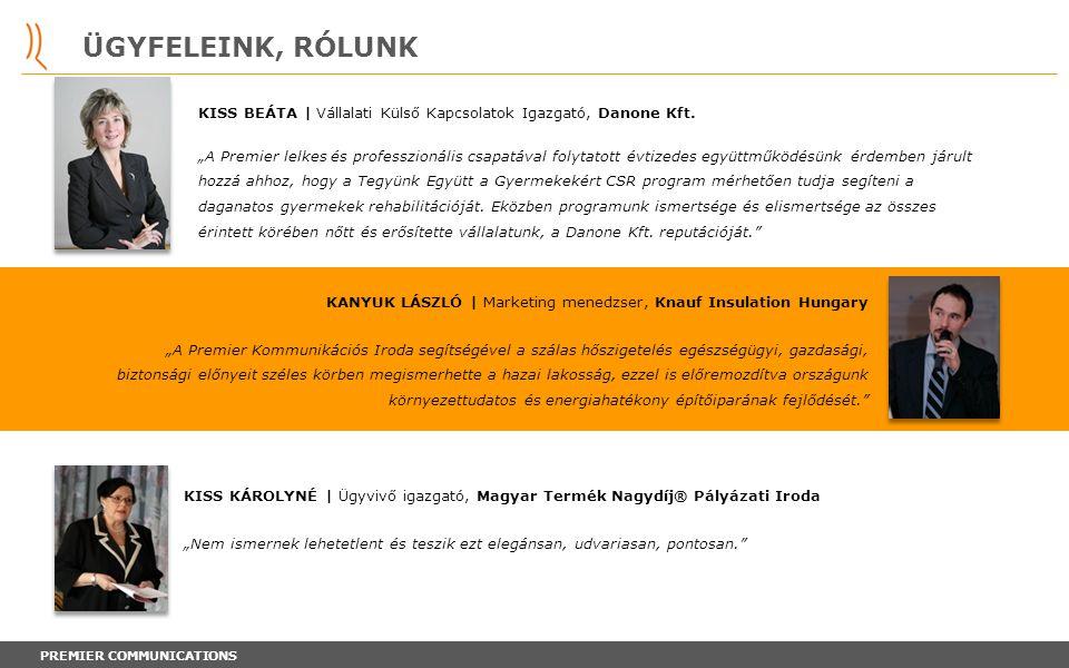 ÜGYFELEINK, RÓLUNK KISS BEÁTA | Vállalati Külső Kapcsolatok Igazgató, Danone Kft.