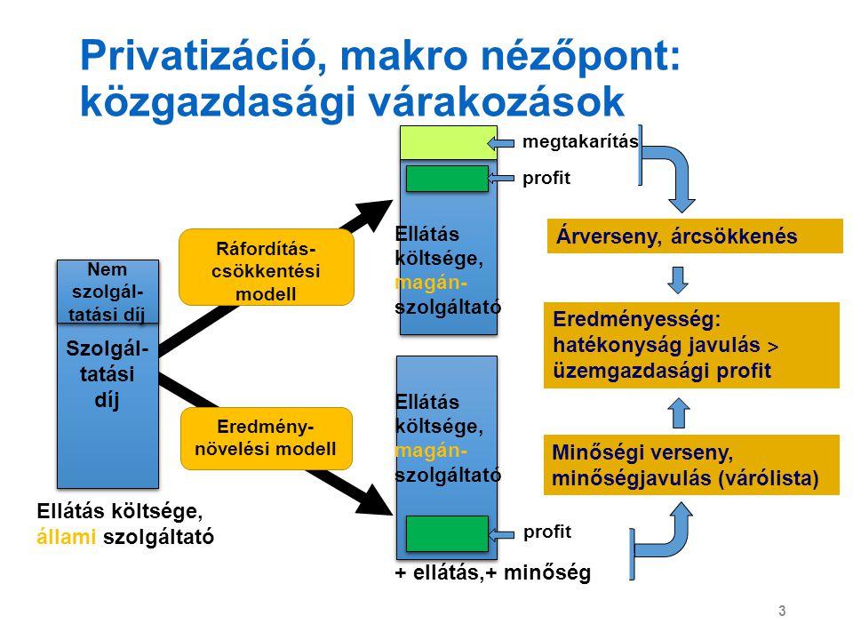Privatizáció, makro nézőpont: közgazdasági várakozások