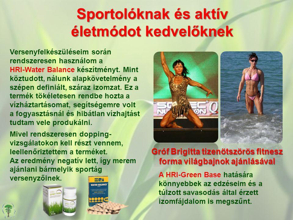 Sportolóknak és aktív életmódot kedvelőknek