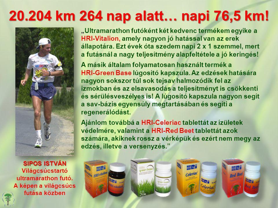 Világcsúcstartó ultramarathon futó. A képen a világcsúcs futása közben