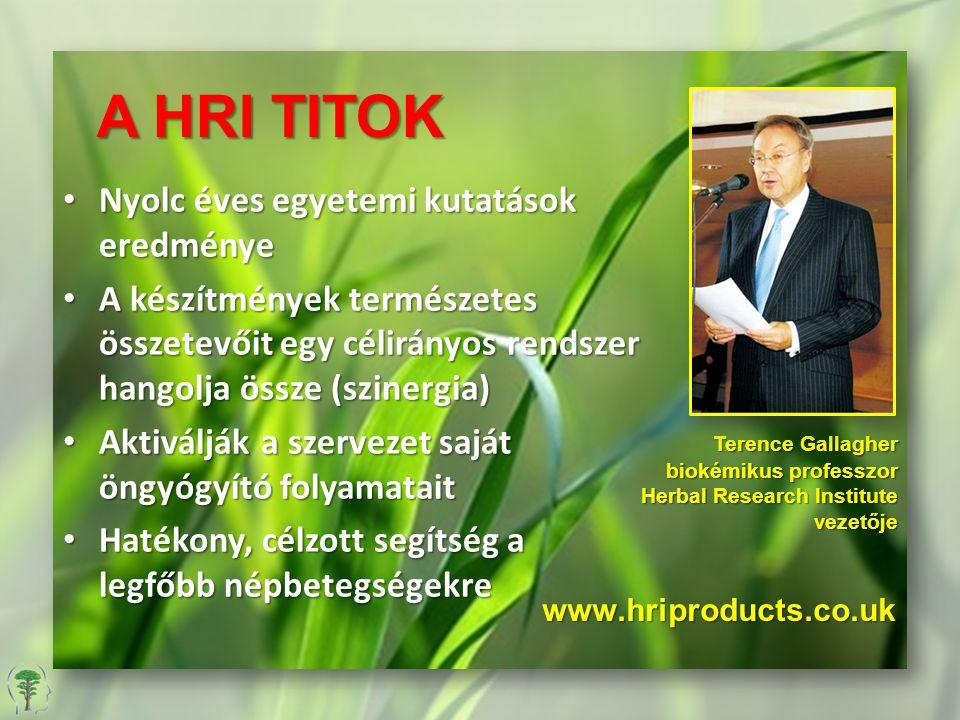 A HRI TITOK Nyolc éves egyetemi kutatások eredménye