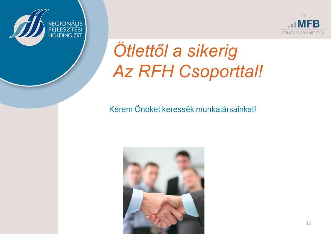 Ötlettől a sikerig Az RFH Csoporttal!