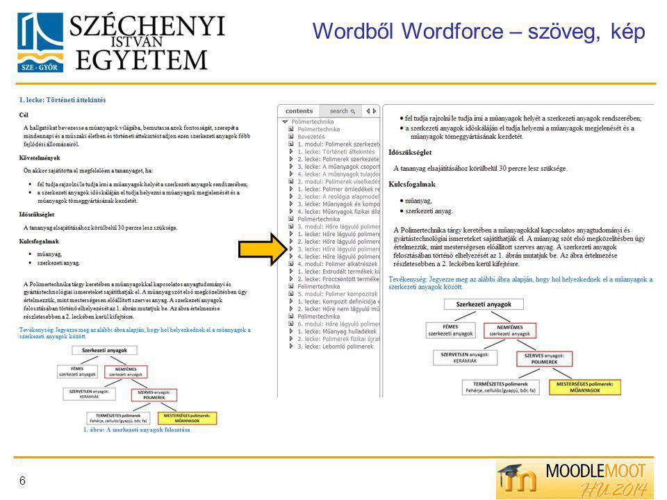 Wordből Wordforce – szöveg, kép