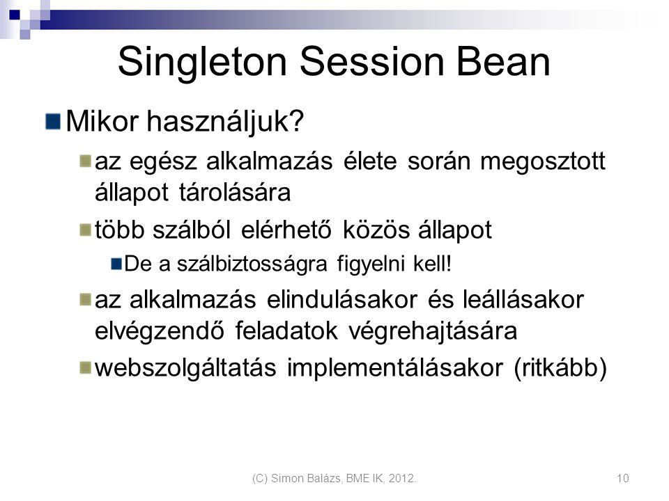 Singleton Session Bean