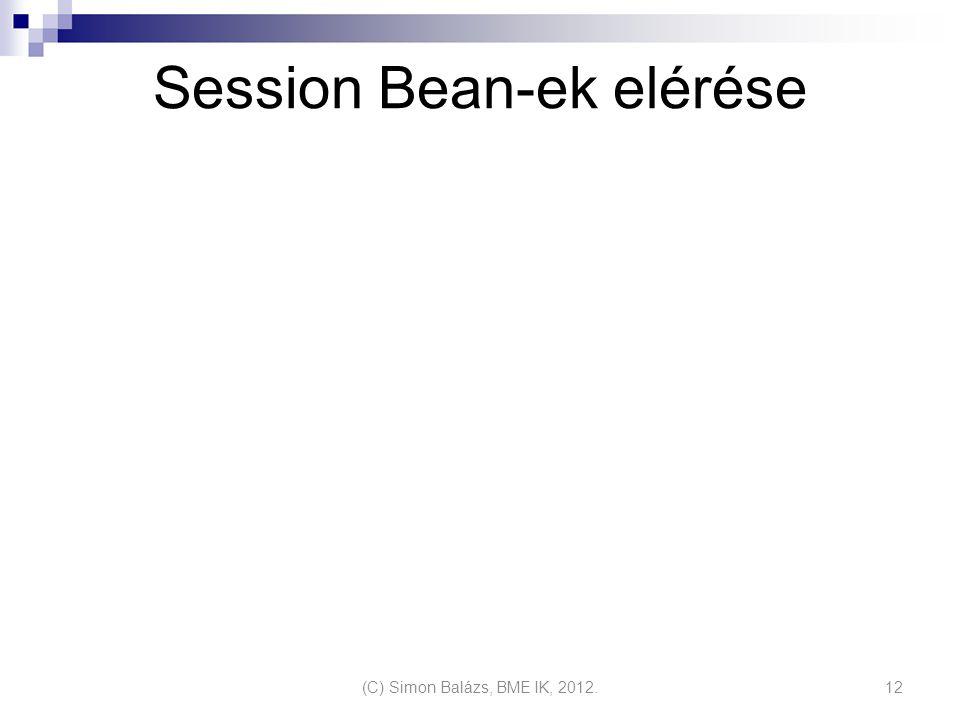 Session Bean-ek elérése