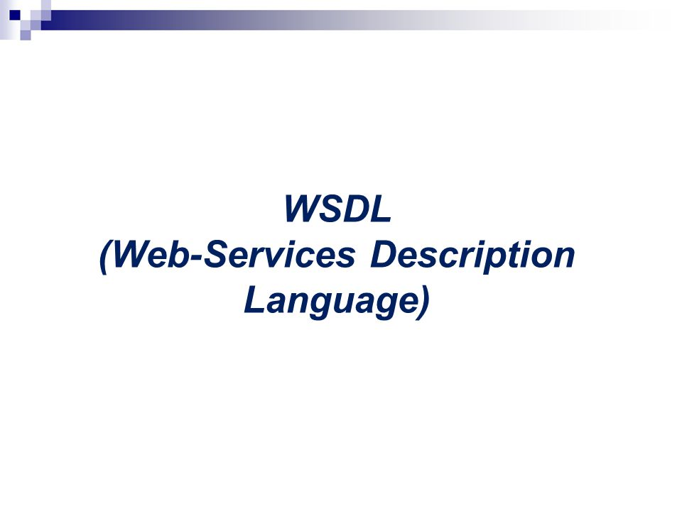 WSDL (Web-Services Description Language)