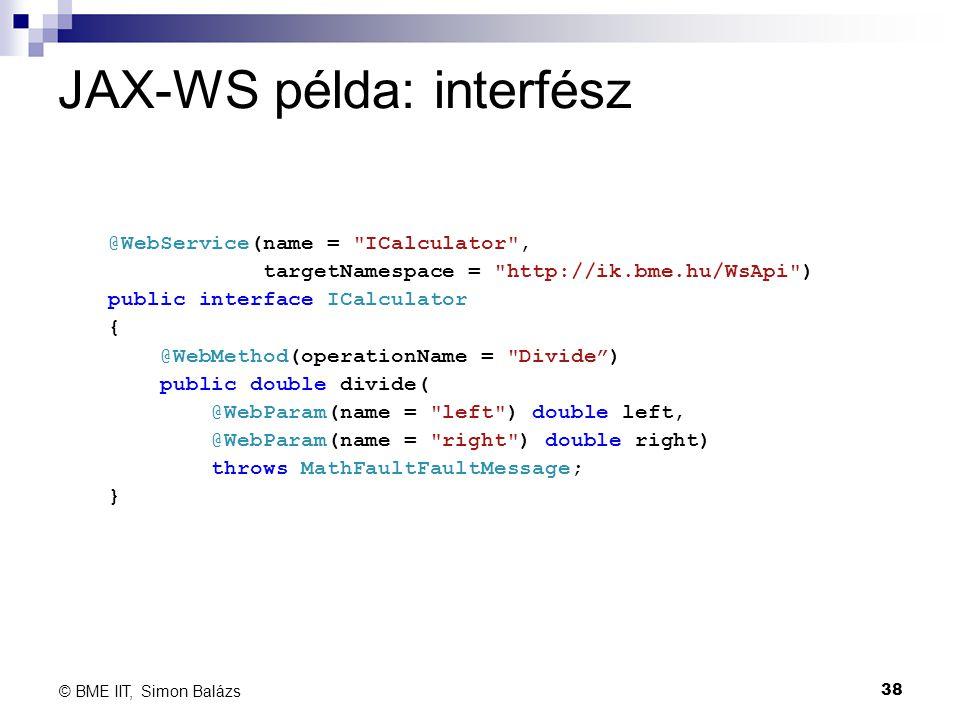 JAX-WS példa: interfész