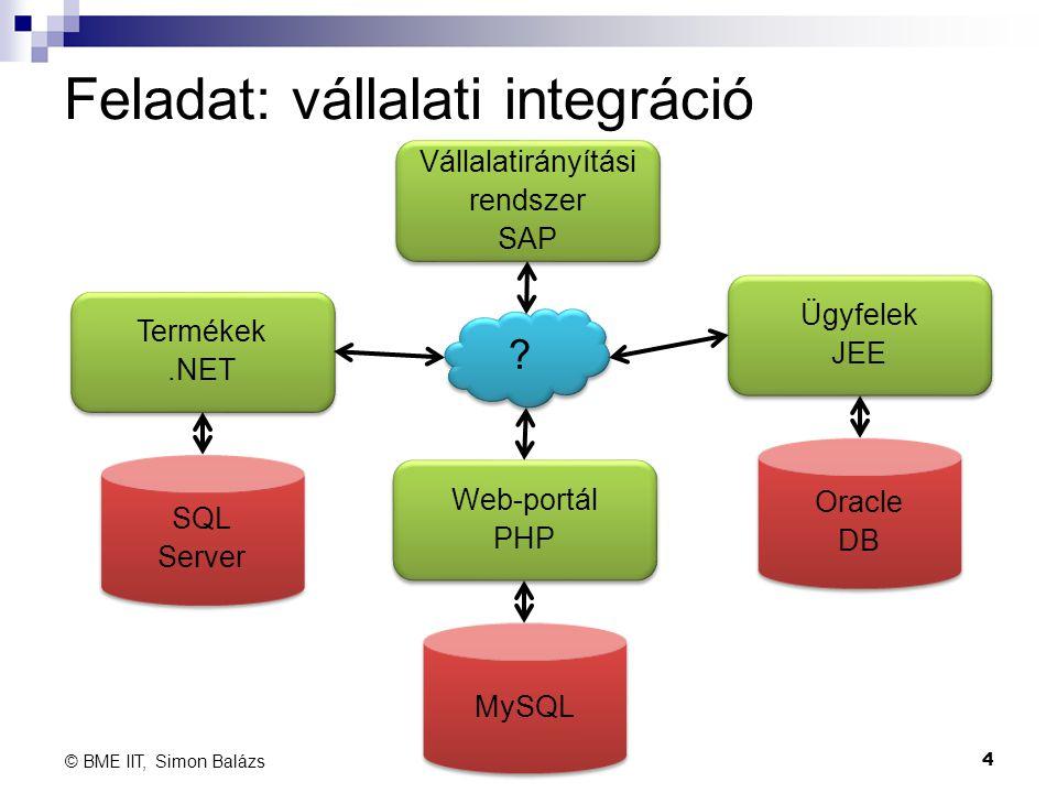 Feladat: vállalati integráció