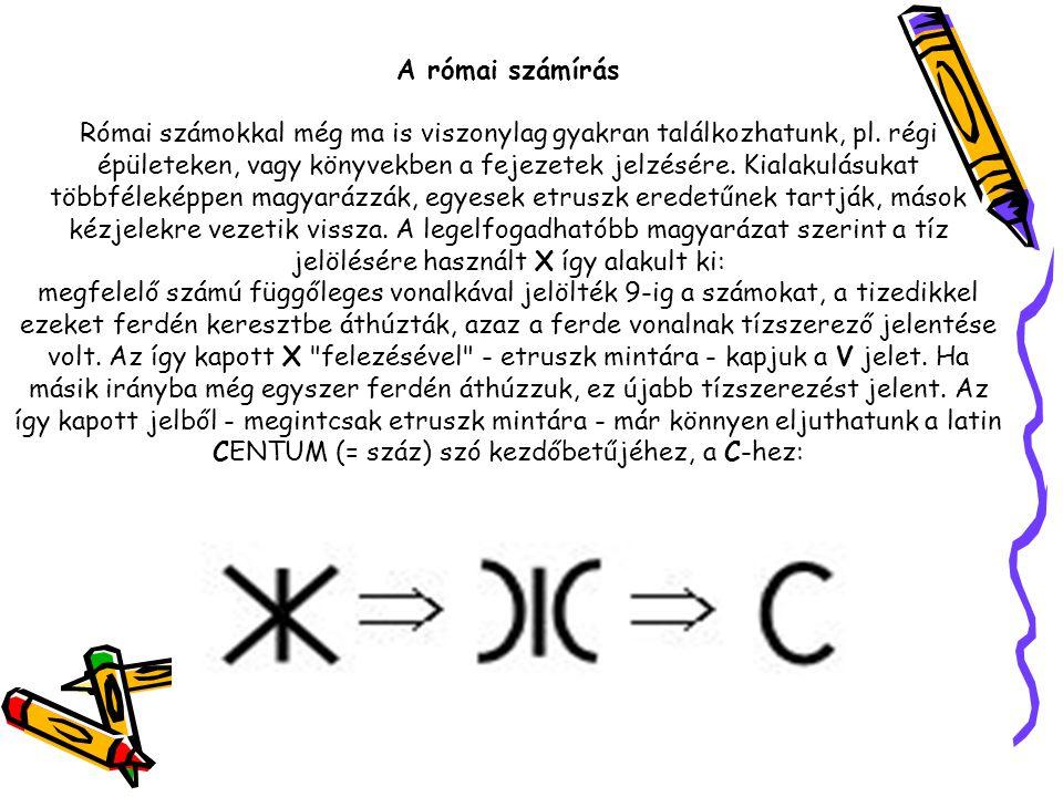 A római számírás