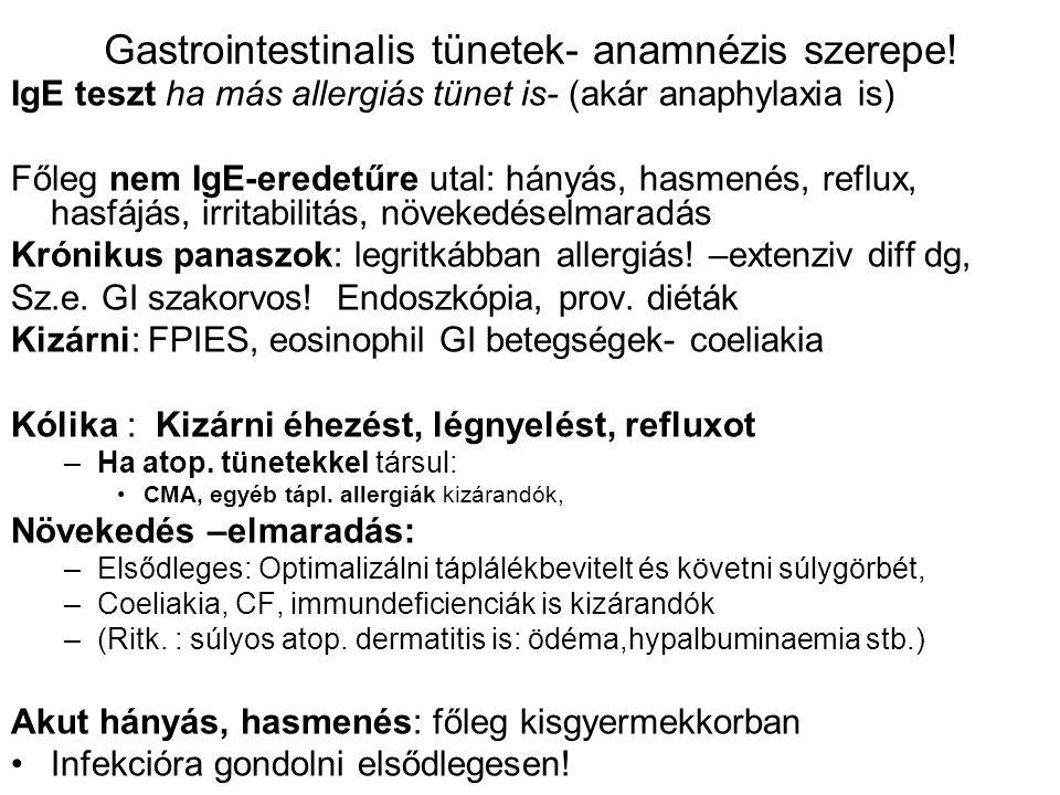 Gastrointestinalis tünetek- anamnézis szerepe!