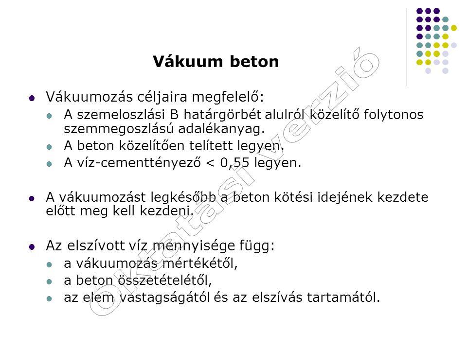Oktatási verzió Vákuum beton Vákuumozás céljaira megfelelő: