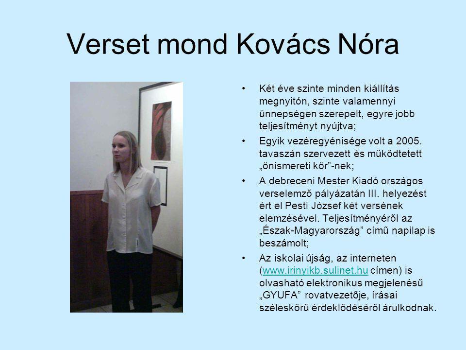 Verset mond Kovács Nóra