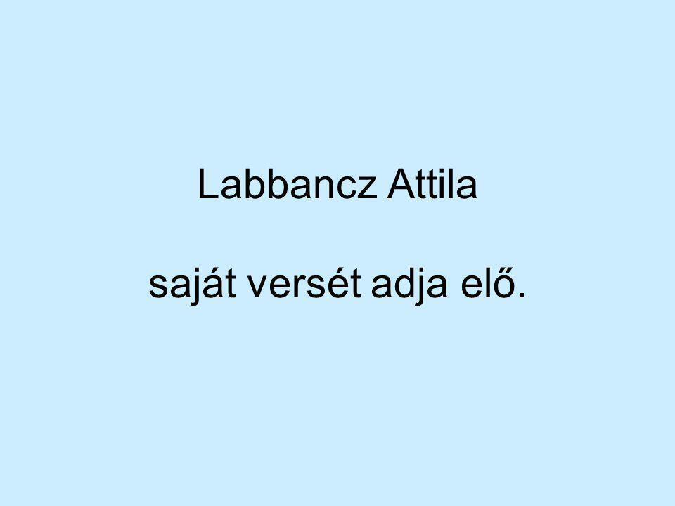 Labbancz Attila saját versét adja elő.