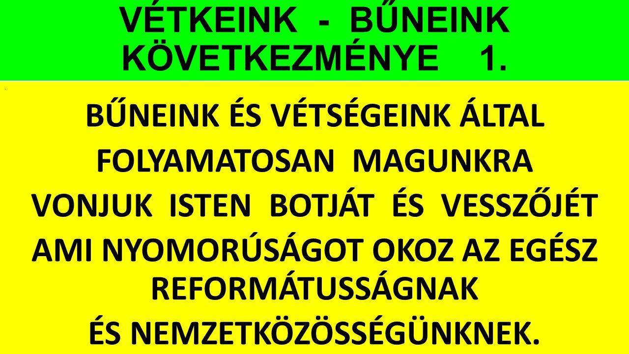 VÉTKEINK - BŰNEINK KÖVETKEZMÉNYE 1.