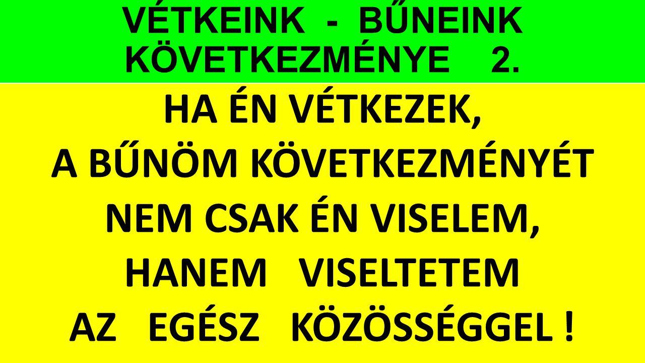 VÉTKEINK - BŰNEINK KÖVETKEZMÉNYE 2.